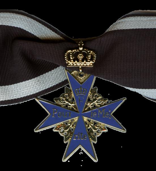 """""""Pour le Mérite"""" mit Krone für 50jährige Inhaberschaft"""