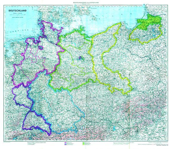 Deutschland mit Besatzungszonen