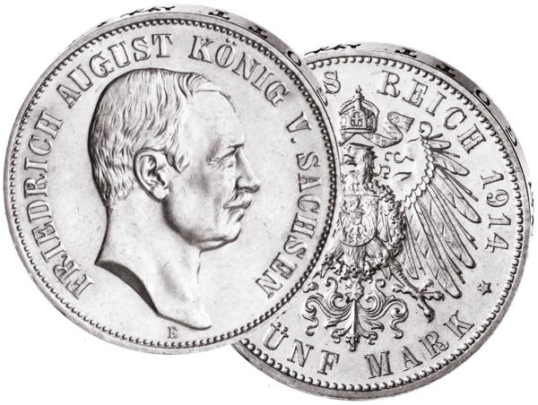 """5 Mark """"Friedrich August, König von Sachsen"""""""
