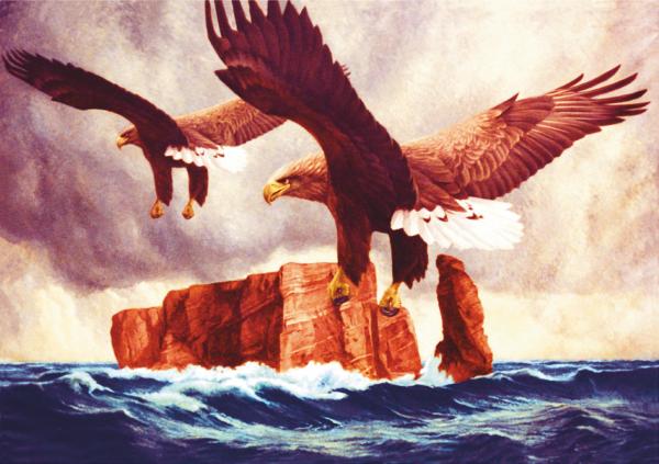 "Wandbild ""Die Wacht"" (Seeadler vor Helgoland)"