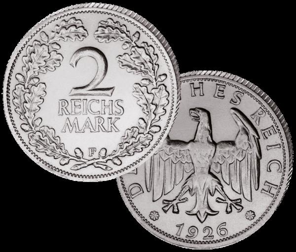2 Reichsmark Eichenlaub 1925-1927