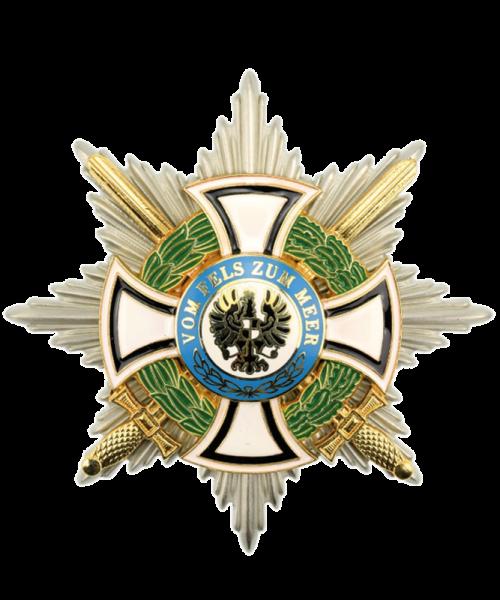 Königlicher Hausorden von Hohenzollern Bruststern der Komture mit