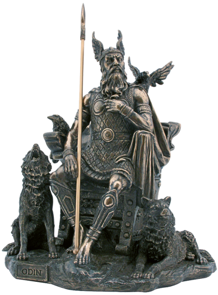 Allvater Odin sitzend