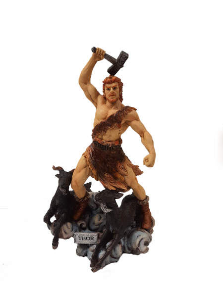 """Thor mit Hammer"" (farbig)"