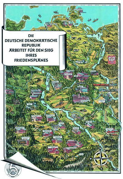 Historische Karte: Die DDR 1952