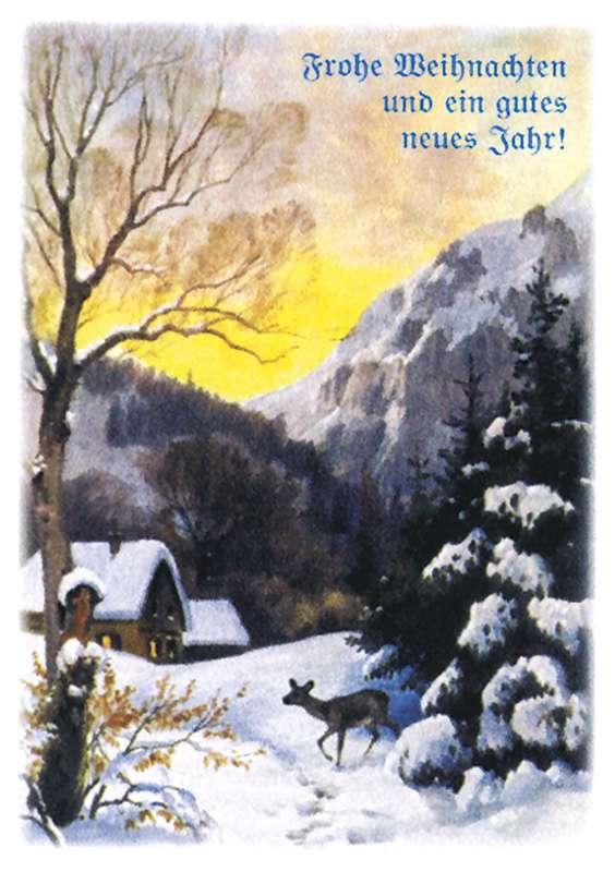 Frohe Weihnachten Und Ein Gutes Neues Jahr Tschechisch.Postkartensatz Frohe Weihnachten Iii