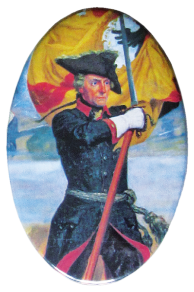 """""""Friedrich der Große mit Fahne"""""""