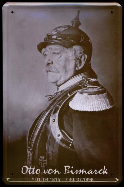 """Blechschild """"Otto von Bismarck"""", 20 x 30 cm"""