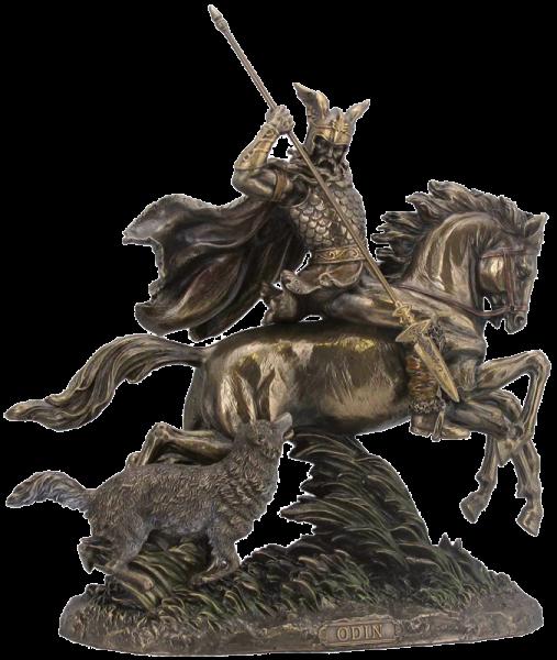 Odin auf Sleipnir mit Wolf