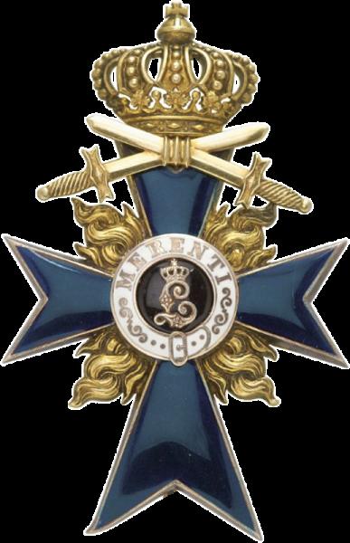 Bayern Militär Verdienstorden Offizierskreuz mit Flammen und Schw