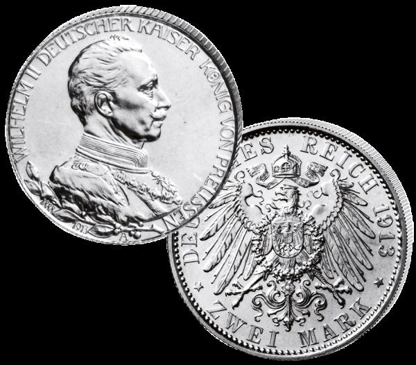 """""""2 Mark Wilhelm II. 1913"""""""