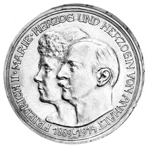"""3 Mark """"Silberhochzeit Friedrich II. und Marie"""""""