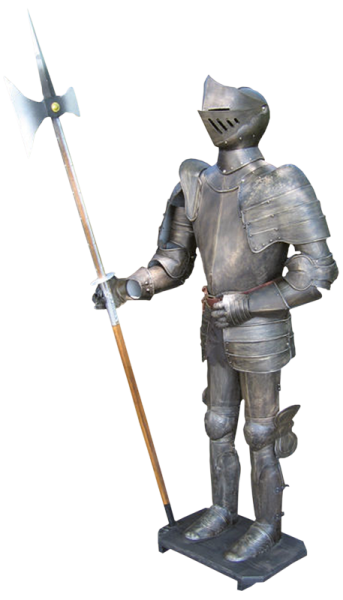 Mittelalter brüniert mit Hellebarde