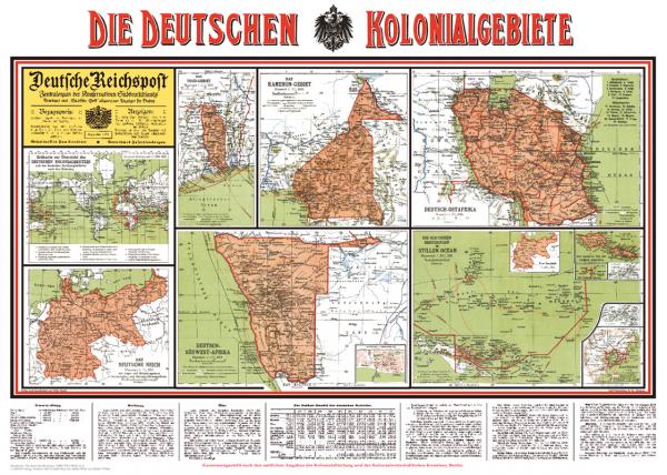 Politisch-historische Karte: Die deutschen Kolonialgebiete