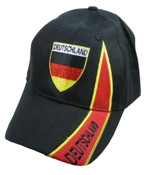 """Freizeitkappe """"Deutschland"""" schwarz, rot, gold"""
