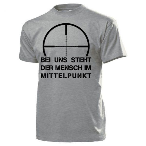 """T-Hemd """"Bei uns steht der Mensch im Mittelpunkt"""", oliv (Gr. XXL)"""