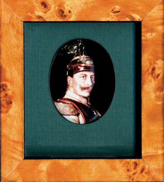 "Porzellanmedaillon ""Kaiser Wilhelm II."" (1859–1941)"