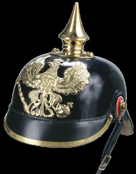 Preußische Pickelhaube, Reproduktion, Leder