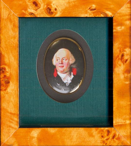 "Porzellanmedaillon ""Friedrich Wilhelm II."" (1744–1797)"