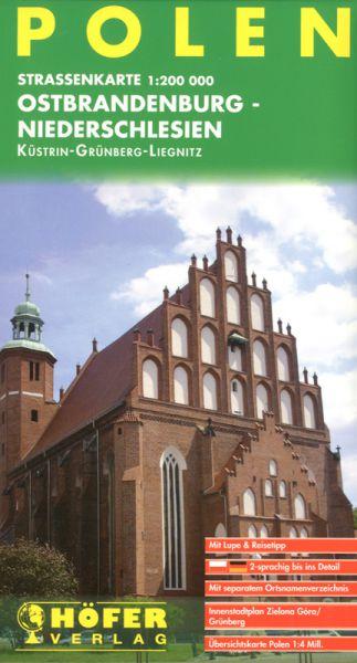 Straßenkarte Ostbrandenburg-Niederschlesien