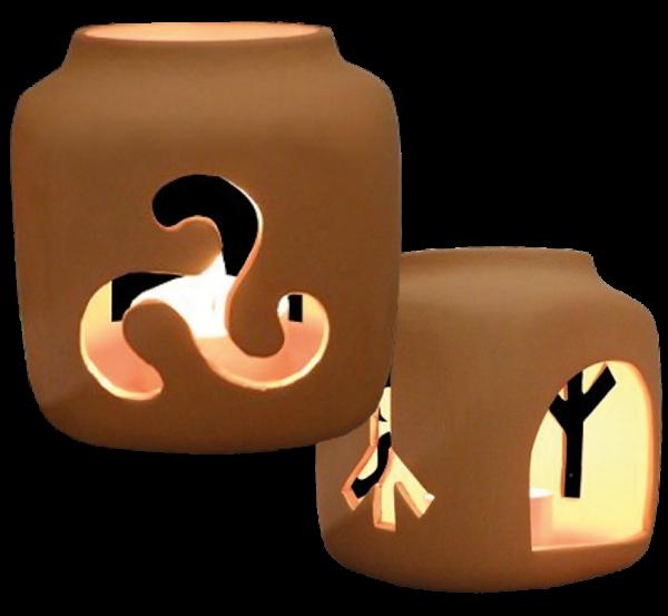 Keramik-Runenleuchter