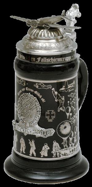"""Porzellankrug """"Deutsche Fallschirmjäger"""""""