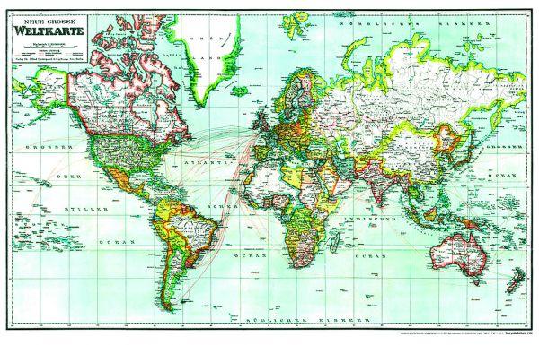 Neue große Weltkarte 1940