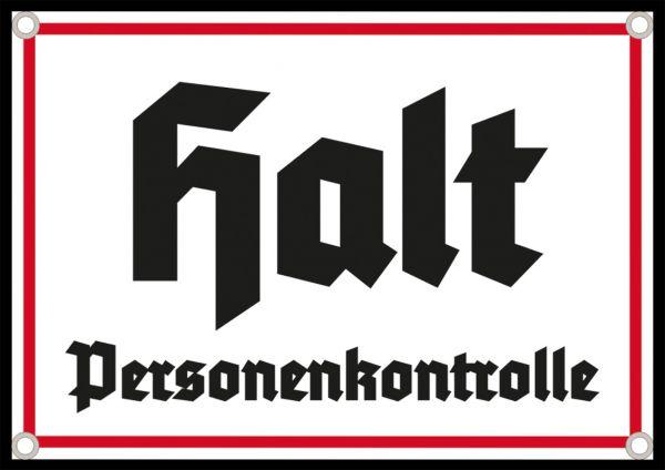 """Halt – Personenkontrolle"""
