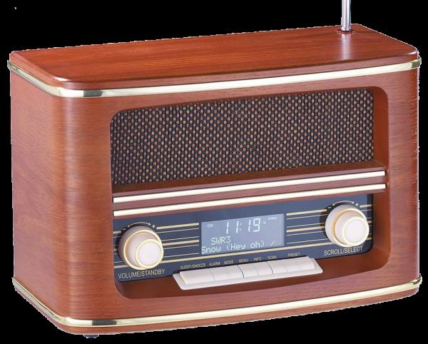 DAB Digitalradio Nostalgie mit Weckfunktion