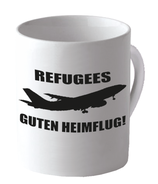 """Becher """"Guten Heimflug"""""""