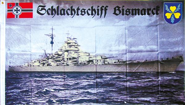 """Fahne """"Schlachtschiff Bismarck"""""""
