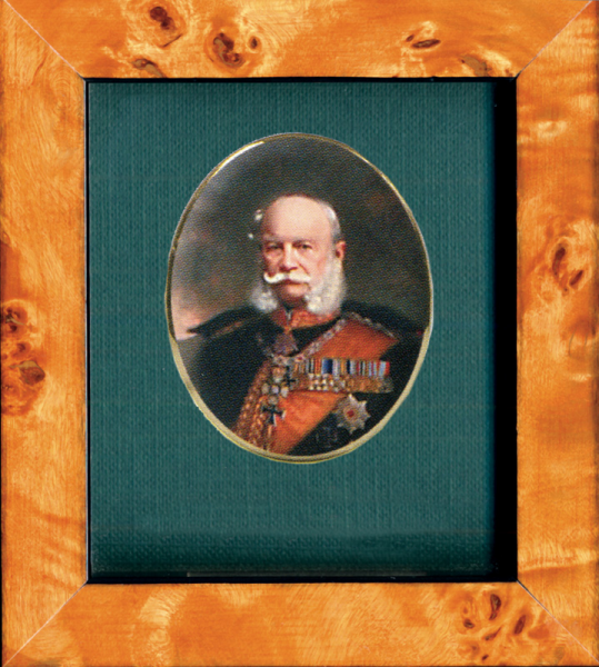 "Porzellanmedaillon ""Kaiser Wilhelm I."" (1797–1888)"
