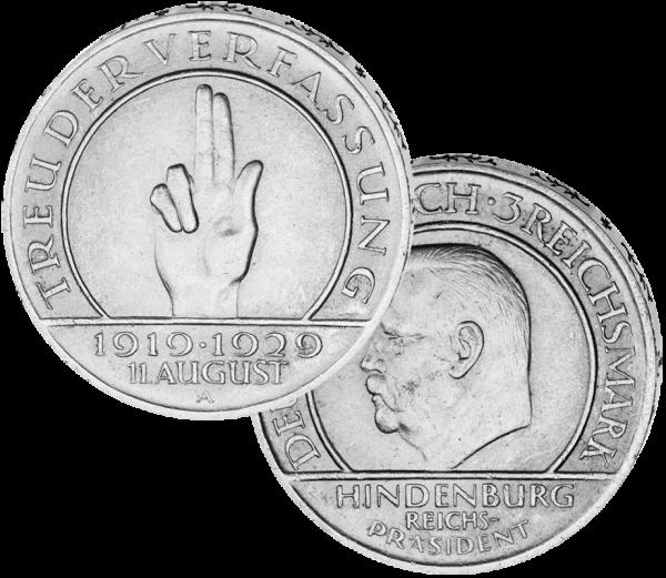 3 Reichsmark Schwurhand Lesen Und Schenken