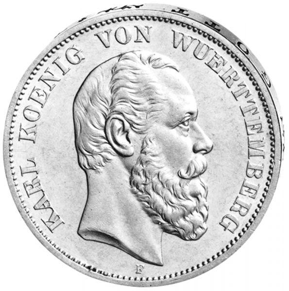 """5 Mark """"Karl König von Württemberg"""""""