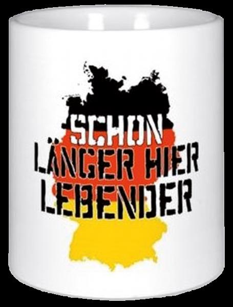 """Becher """"Schon länger hier Lebender"""""""