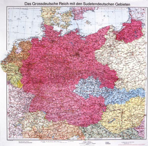 Deutschland mit Sudetenland 1938