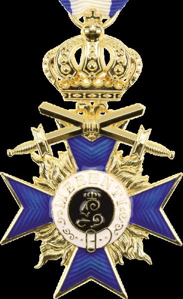 Bayrischer Militärverdienstorden. 3. Klasse mit Schwertern und Kr