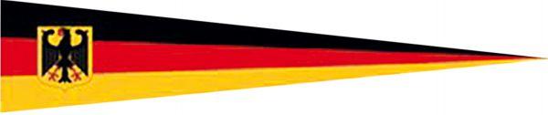 Schwarz-rot-gold mit Wappen