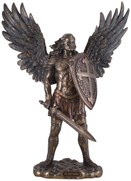 """Skulptur """"Erzengel Michael"""""""