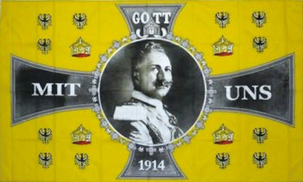 Flagge Standarte Wilhelm II. - Gott mit uns