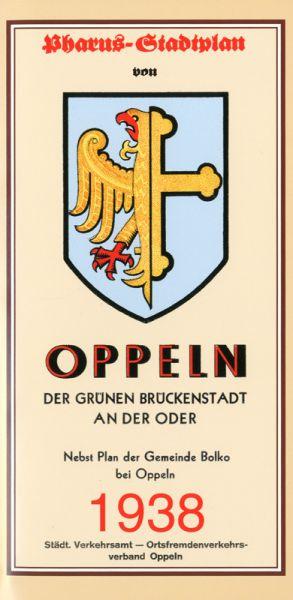 Stadtplan Oppeln 1938