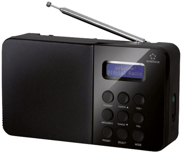 DAB Digitalradio mit RDS Funktion in schwarz