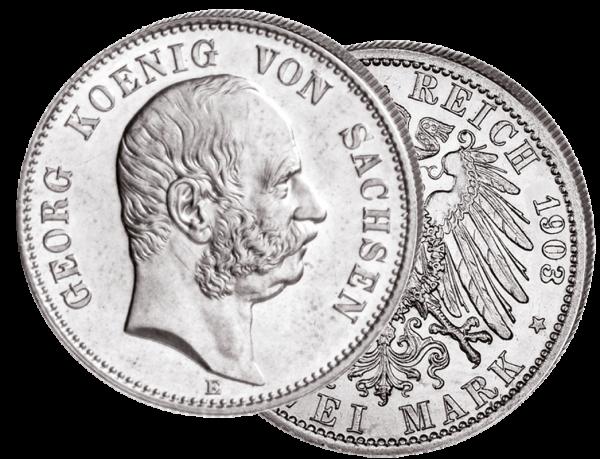 """""""Geord König von Sachsen"""" 2 Mark"""