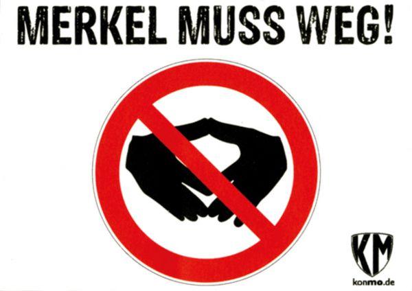 "Aufkleber ""Merkel muß weg, Raute"""