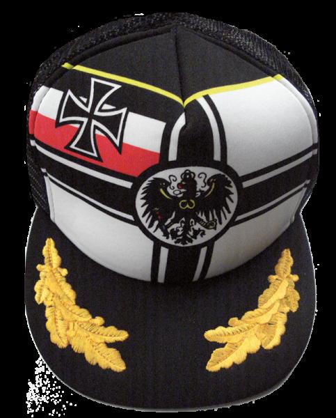 """Freizeitkappe """"Reichskriegsflagge mit Eichenlaub"""", schwarz"""