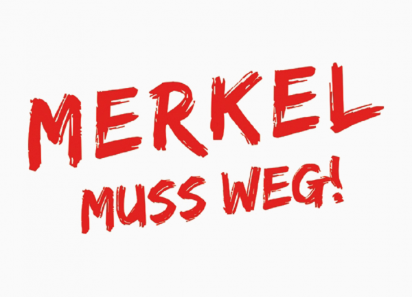 "Aufkleber ""Merkel muß weg"""