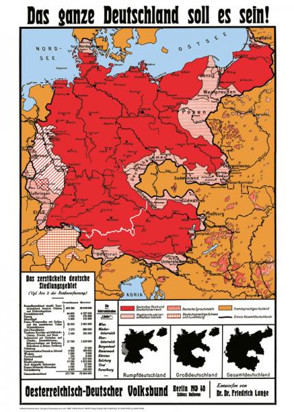 """Politisch-historische Karte """"Das ganze Deutschland soll es sein"""""""