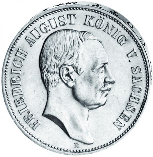 """""""Friedrich August König von Sachsen"""" 5 Mark"""