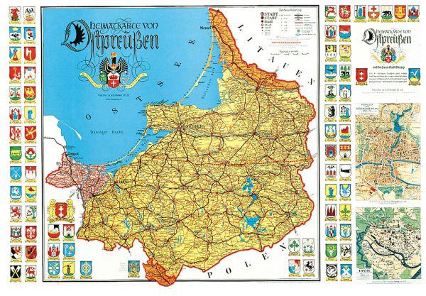 Ostpreußen Heimatkarte
