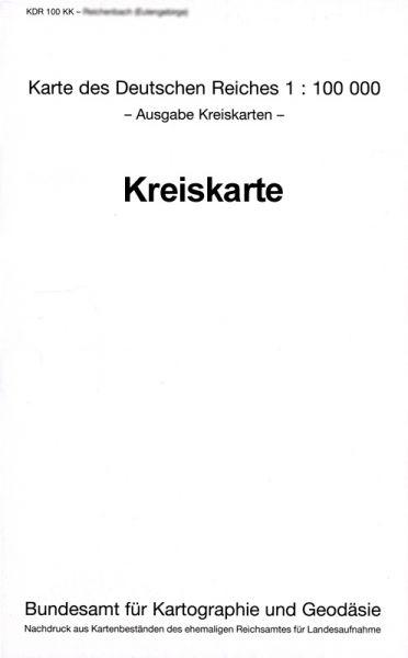Amtliche Kreiskarte Ostbrandenburg